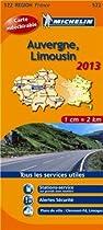 Michelin Tear-Resistant Map #522 Auvergne Limousin
