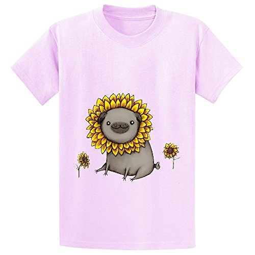 likeu-pugflower-teen-short-sleeve-crew-neck-shirts-pink