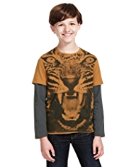 Pure Cotton Leopard Print T-Shirt