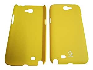 UnicaCase Rubberized Back Case Cover For Samsung Galaxy Note 2 N7100-Yellow