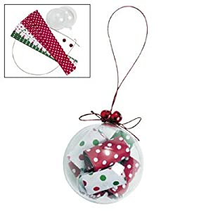 Rolled up paper christmas ornament craft kit for Christmas paper crafts for adults