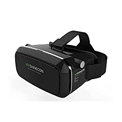 Smart VR SHINECON Virtual Reality Headset 3D VR Glasses for Android & Apple Smartphones within 6 Inch, ideal for 3d Videos Movies Games (Black)
