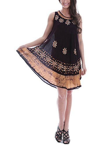 Women's Sleeveless Batik Dresses, 088