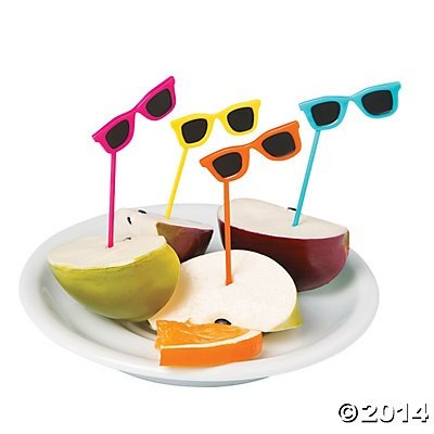 Sunglasses Food Cupcake Picks - 72 pcs shipule commercial conveyor toaster bakery oven electric conveyor toaster bakery oven for free shipping