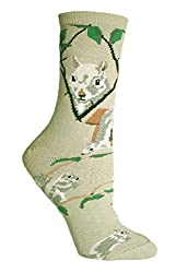 Grey Squirrel Novelty Adult Socks by Wheel House Designs USA Made