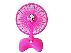 Vaibhav Cute Mini Plastic Toy Fan For Kids - Battery Operated