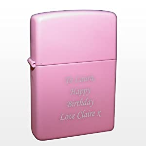 Pink Personalised Lighter