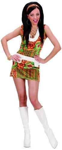 Ladies Velvet 60s Mod Girl Costume Small UK 8-10 for 1960s Sixties Fancy Dress by Widmann