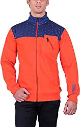 RGT Men's Fleece Regular Fit Sweatshirts (RGT7025ORANGE-XXL)