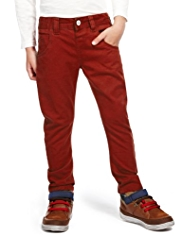 Pure Cotton Adjustable Waist Bow Leg Chinos