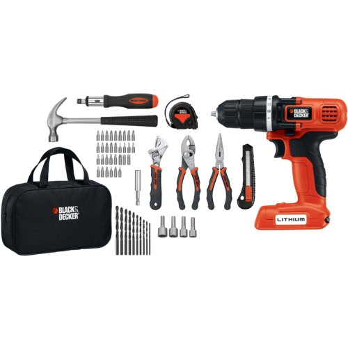 Discover Bargain Black & Decker LDX172PK Lithium Drill and Project Kit, 7.2-volt