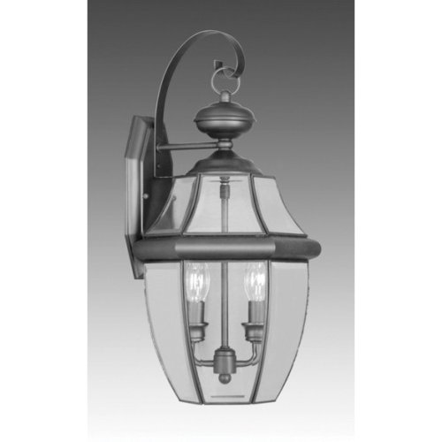 Monterey-04 - 2 Light Medium Outdoor Lighting Wall Lamp Fixture - Black - B1990