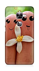 Amez designer printed 3d premium high quality back case cover for LeEco Letv Le 2 (Cute Love Cartoon Couple Fingers)