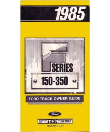 Ford F  To F  Truck Owners Manual User Guide