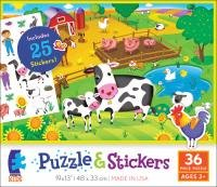 Ceaco Farm Animals Puzzle & Stickers Jigsaw Puzzle