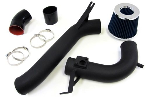 09-12 Acura Tsx 2.4L Black Cold Air Intake Kit W/ Blue Filter front-542734