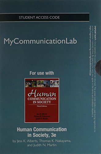 NEW MyCommunicationLab without Pearson eText -- Standalone Access Card-- for Human Communication in Society