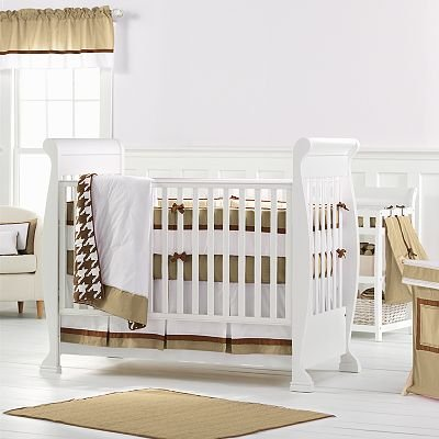 Metro Khaki/Choc 4 pc Crib Set