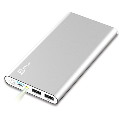 Externer Akku, JETech® 10000mAh Ultra Kompakt Dual USB Ausgang Portable Power Bank...