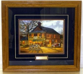 Dave Barnhouse Framed Motorcycle print-AMERICAN MADE
