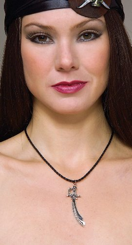 Rubies Costumes Women's Cord Necklace with Pewter Pirate Pendant