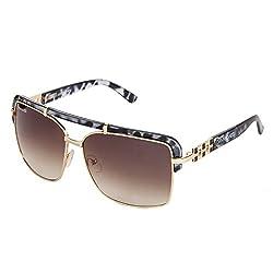 Danny Daze UV Protected Rectangular Women Sunglasses (D-2107-C3|51MM|Brown)