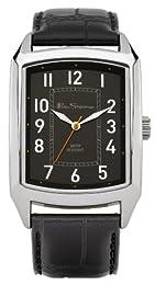 Ben Sherman Men's Quartz Watch with Black Dial Analogue Display and Black PU Strap BS027