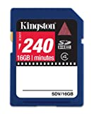 Kingston 240m 16GB SDHC Video card