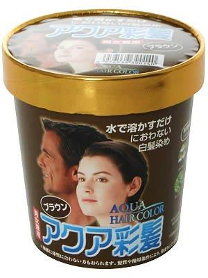 アクア彩髪男女兼用ブラウン15g×4袋 白髪染め女性用