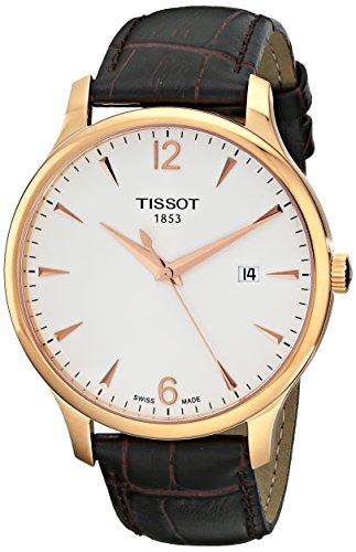 Herren-Armbanduhr XL Analog Quarz Leder T063.610.36.037.00