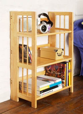 NATURAL ORIGINS 3 TIER STACKABLE FOLDING BOOK SHELVES 2400830
