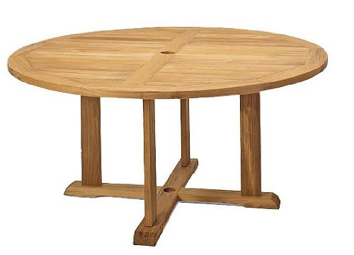 "Grade-A Teak Wood 60"" Round Dining Table [**Click to see all sizes..]"