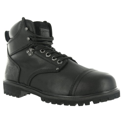 Rugged Blue RB2 1800 Leather Steel Toe Waterproof Men's Work Boot, Size 8M, Black