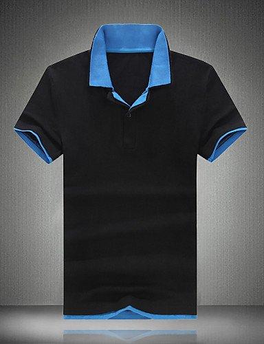 HBJ Polo Uomo Casual / Da ufficio / Attività sportive / Taglie forti Monocolore Manica corta Cotone , purple , 2xl
