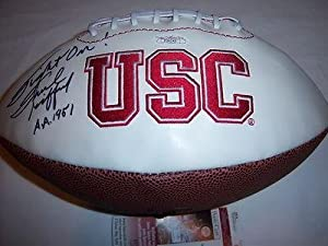 Frank Gifford Signed Football - Usc Trojans hof Jsa coa - Autographed College... by Sports+Memorabilia