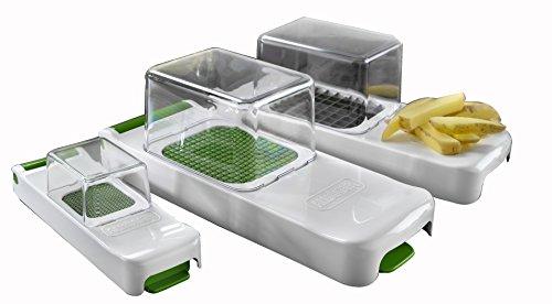 3080 Family Zwiebel, Gemüse und Obstschneider 4 teilig Set, Küchenhelfer für schnelles und sauberes Schneiden