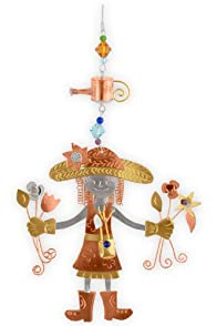 Pilgrim Imports Garden Girl Metal Fair Trade Ornament