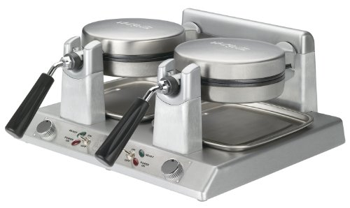 Waring Commercial Ww250 Heavy-Duty Double Side-By-Side Belgian Waffle Maker, 120-Volt