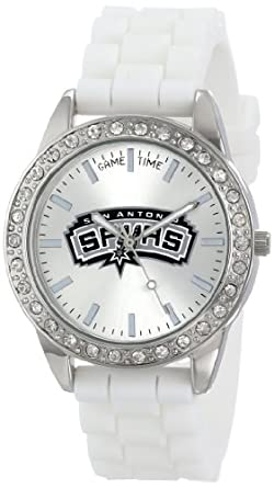 "Amazon.com: Game Time Women's NBA-FRO-SA ""Frost"" Watch - San Antonio"