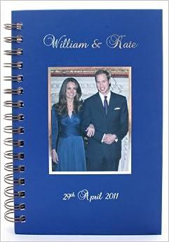 The Royal Wedding, Prince William & Kate Middleton Large Notebook