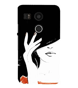 Excellent Girl Design Cute Fashion 3D Hard Polycarbonate Designer Back Case Cover for LG Nexus 5X :: LG Google Nexus 5X New