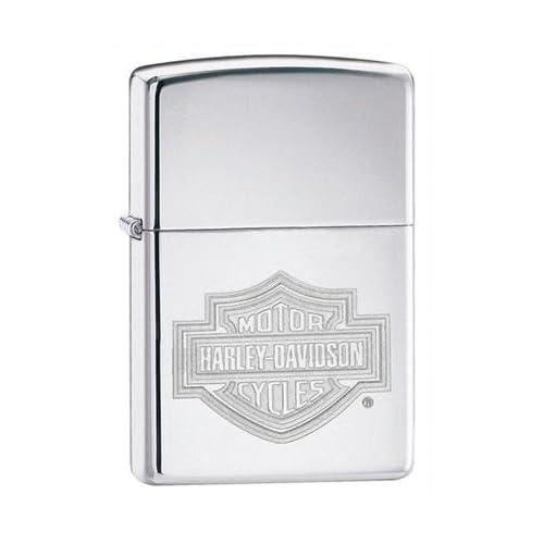 Zippo Harley Davidson Bar & Shield High Polish Chrome Lighter