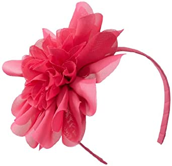 Mud Pie Baby-Girls Newborn Chiffon Flower Big Headband, Hot Pink, One Size