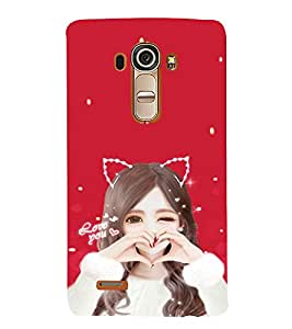 EPICCASE Love Girl Mobile Back Case Cover For LG G4 (Designer Case)
