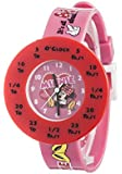 Minnie Mouse Girl's Quartz Watch with Multicolour Dial Analogue Display and Multicolour Plastic or Pu Strap MIN3