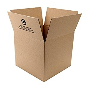 "Duck Brand Kraft Corrugated Shipping Boxes, 12"" x 12"" x 10.5"", Brown, 6-Pack (281503)"