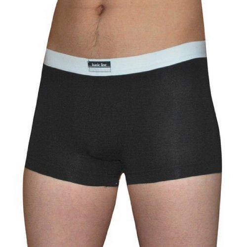 Mens Basic Cotton Boxer Trunk Briefs Underwear - Black - Size: XS