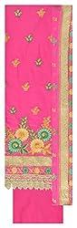 Fashion Hut Women's Cotton Unstitched Dress Material (Pink)