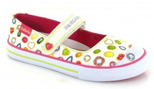 Pablosky, Pantofole bambine Blanco-rosa 32