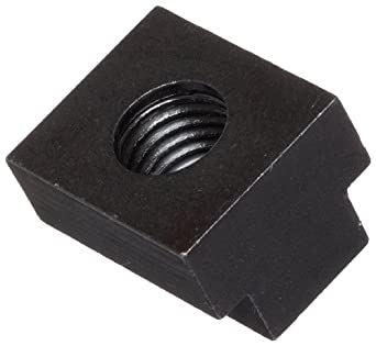 Steel T-Slot Nut, Black Oxide Finish, Grade 5, Left Hand Threads, Inch, Made in US